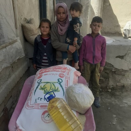 Orphan children who are struggling with finding food, yet don't have foreseeable hope for food in the future