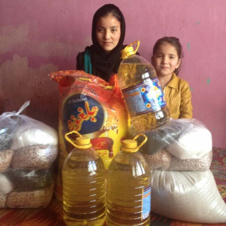 Distribution of whole meal and those in need in time of caused by Covid unemployability in Kabul City