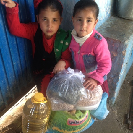 Orphan kids who have been able to receive help from Khorasan and and worry about their next meal